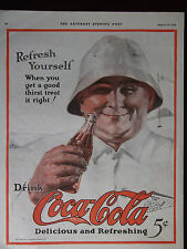 1924 Coca-Cola Advertisement Golfer at the 18th Hole Fantastic Ad!
