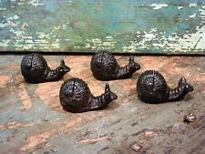 Cast Iron Set/4 Snail Photo Card Wedding Party Holder Home Garden Office Decor