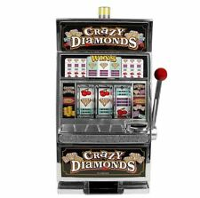 Trademark Games Crazy Diamonds Slot Machine Bank Arcade Casino Replica Game Bank