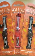 WOLF & TIGRE COLLEZIONE Spotty Riflettente Collare Gatto in colore Nero