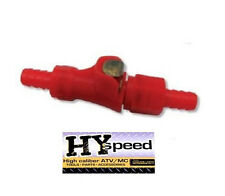 HYspeed Fuel Gas Line Quick Connect RED Disconnect 5/16 Motorcycle Dual Shut Off
