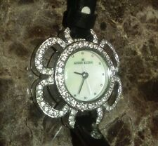 Anne Klein Mother of Pearl Dial Crystal Flower Watch 10-7191