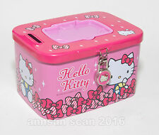 Sanrio Hello Kitty metal piggy bank/ coin saver ©1976, 2013 pre-owned but unused