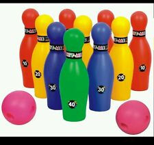 Gift toy for boy,girl indoor game Bowling Set Plastic 10 Pins 2  balls BIG SIZE