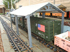 G-scale Freight Car Unloading Shed Cover Canopy or Maintenance Shed Fits LGB Etc
