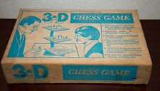 VINTAGE 3-D CHESS SET GAME REMINISCENT OF STAR TREK THE ORIGINAL SERIES & BOX