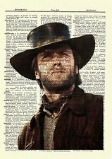 Clint Eastwood Dictionary Art Print Poster Vintage Picture