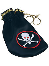 Niños Pirata Coin Pouch Skull & Crossbones Fancy Dress Piratas Del Caribe