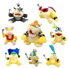8X Super Mario Bros Plush King Bowser Koopalings Larry Roy Ludwig Koopa Kids ETC