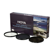 HOYA 77mm Digital Filter Kit Set: HMC UV, CPL/Circular Polarizer, NDx8 , & Pouch