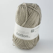 Rico Creative Cotton DK - 100% Cotton Knitting & Crochet Yarn - Pearl Grey 019