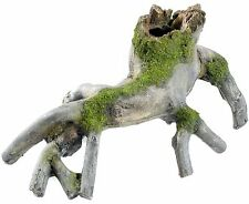 Grey Tree Roots with Moss Aquarium Fish Tank Ornament Terrarium Wood Decoration