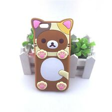3D Cartoon Brown Rilakkuma Bear rubber case for iPhone 6s/6 Back cover Skin New