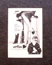 M505- Advertising Pubblicità -1960-  CALZE OMSA ... CHE GAMBE !