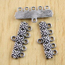 20pcs Tibetan Silver 5-to-1 Connectors Findings H0712