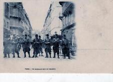CPA 75 PARIS UN BARRAGE RUE DE CHABROL (dos non divisé)