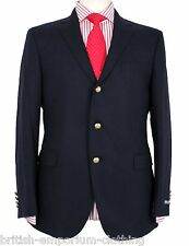 RALPH LAUREN Navy SOFT FLANNEL WOOL Sports Jacket/Blazer BNWT Made In Italy UK38