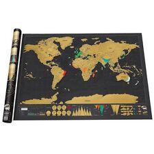 Deluxe Rubbel Weltkarte Scratch Off World Map Poster-Karte Landkarte zum Rubbeln