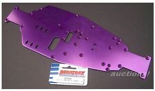 Duratrax DTXC6981 3mm PURPLE ANODIZED STOCK CHASSIS AXIS NITRO THUNDER QUAKE NOS