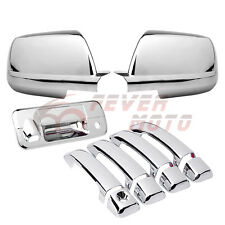 For 2007-2013 Toyota Tundra Chrome Side Door Handle+Tailgate+Mirror Cap Cover FM