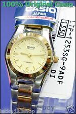 LTP-1253SG-9A Gold Casio Stainless Steel Band Ladies Watches Brand-New