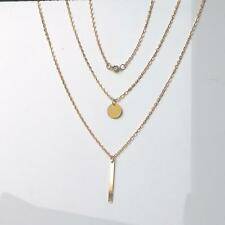Charm Pendant Accessories Jewelry Multilayer Necklace Gold Plated Coin
