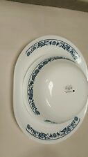 CORNING CORELLE OLD TOWN BLUE ONION PLATTER and serving bowl