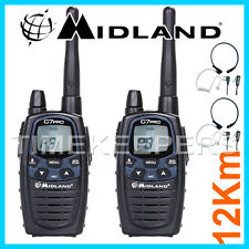 12Km Midland G7 Pro Dual Band Walkie Talkie Two Way Radio Skiing & Go Karting