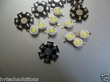 Combo of 25 pcs 1Watt White Power LED SMD bead Chips bulb light & 25Pcs heatsink