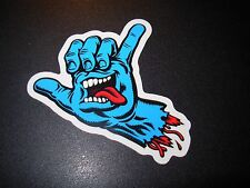 SANTA CRUZ Skate Sticker Blue Screaming Hand Hang Ten skateboard helmets decal