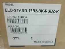 Lot of (2) ELO E149693 Monitor Stands ELO-STAND-17B2-BK-RUBZ-R     - NEW