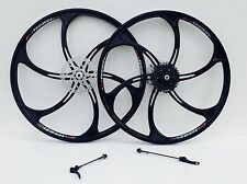 MAGNESIUM ALLOY WHEELS FRONT AND REAR MTB MOUNTAIN BIKE WITH CASSETTE NEW 26INCH