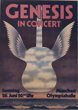 GENESIS CONCERT TOUR POSTER 1977 WIND & WUTHERING