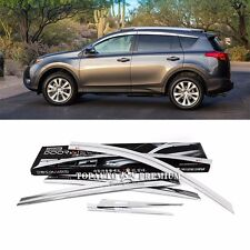 Chrome Window Vent Sun Visors Rain Guards for Toyota RAV4 2013~2016+