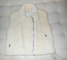 NWT Michael Kors White Female Horizontal Mink Fur Vest MSRP $3800 Fur Vault