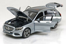 Norev 2014 Mercedes Benz C Klasse S205 Avantgarde Estate Silver Dealer Ed. 1/18
