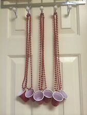 12  Red Solo Cup Shot Glass Necklaces Toby Keith Whiskey Girl