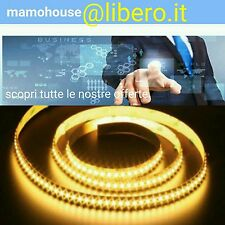 Striscia led 3528 strip led 5 metri bobina 600 led smd luce bianco caldo  giallo