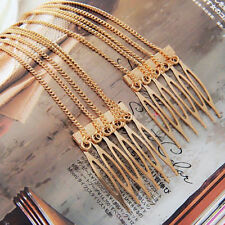 Mental Punk Rock Boho Comb Style Chain Tassels Fringes Hair Cuff Pin Head Band