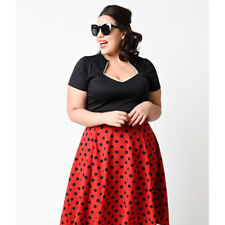Plus Size 50's 60's Vintage Rockabilly Swing Pinup Housewife Party Evening Dress