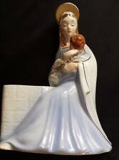 VINTAGE VIRGIN MARY MADONNA & BABY JESUS PLANTER Samson Import 1958 RELPCO JAPAN