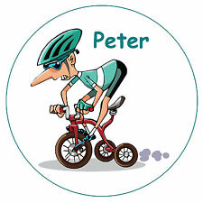 CYCLING - NOVELTY FUN PERSONALISED FRIDGE MAGNET - ANY NAME - GIFT
