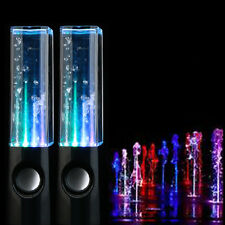 Christmas Gift Black Dancing Music Fountain Light Speakers for PC Laptop Phone