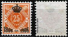 Württemberg 111 *, 25 Pf. 100 Jahre Königreich-Kronenaufdruck, gepr. Winkler BPP
