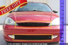 GTG, 2001 - 2004 FORD FOCUS 2pc BLACK UPPER & BUMPER BILLET GRILLE KIT
