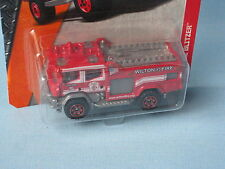 Matchbox Fire Engine Red Body Wilton Rescue in USA BP 70mm