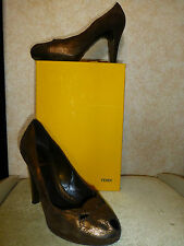 FENDI BRONZE HEELS  SHOES UK7.5 EU40.5 US10.5