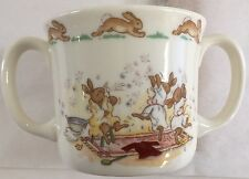 Bunnykins Royal Doulton White Double Handled Child Cup Piglet Robin..