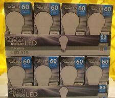 6 LED A19 Soft White DIMMABLE 9.5w 60W-60 Watt 2700K Light Bulb Great Value Save