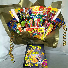 XXL RETRO SWEET HAMPER BOUQUET DIB DAB SHERBIT POPPING CANDY(GREAT EASTER GIFT).